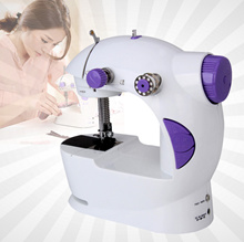 4 in 1 LED Mini Dual Speed Sewing Machine Portable Handheld Mini Cloth Electric Knife Cutter