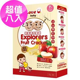 【米大師】探索者8入裝超值組-(原味X4+水果餅X4)寶寶米餅