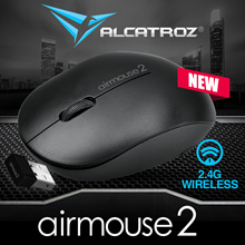 Time Sales! 2018 Best Seller Alcatroz Air-Mouse V.2 - Hi Res Wireless Optical Mouse Restocked! Battery Included. Ultra Low Battery Consumption. Local 24 Months Warranty!