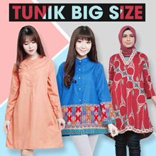 TUNIK BATIK JUMBO BIGSIZE LEBARAN / EID MUBARAK / Hijab COLLECTION / MUSLIM CLOTHES