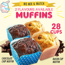 Muffin Promotion!! 2 Different Flavours Available!! Free Qx Delivery!!