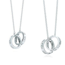 ●Direct from japan●FREE EMS● TIFFANY & Co [Tiffany] 1837 Interlocking Circle Pendant (S) Pair [tp100