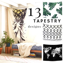 13 NORDIC TAPESTRY DESIGNS/ wall hanging/ picnic mat/ curtain/ sofa blanket/ rug/beach/ table cloth
