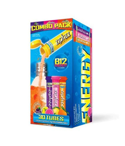 Zipfizz Zipfizz Healthy Energy Drink Mix, Variety Pack, 30-count (Pack of 2)