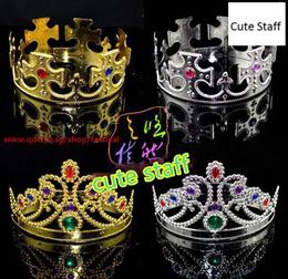 King Queen Princess tiara crown Wang Guanguo role Halloween party props dance dress party role_cute
