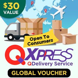Qdelivery Service Voucher [Value S$ 30] for Global Delivery ( Overseas )