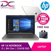 Brand New 14 Inch HP Laptop i5 8th Generation 8GB Ram 256 M.2 SSD  2 Years Local Warranty  Avaliable In Both Gold And Silver 