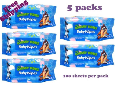 qoo10 cny sale looney tunes baby wet wipes 100s blue pink baby maternity. Black Bedroom Furniture Sets. Home Design Ideas
