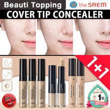 NEW ARRIVAL★THE SAEM★1+1★Cover Perfection Tip Concealer(5color)/Mineral creamy concealer[Beauti Topp