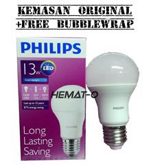 Philips LED 13 Watt (Kemasan Original  Free Bubblewrap) Putih