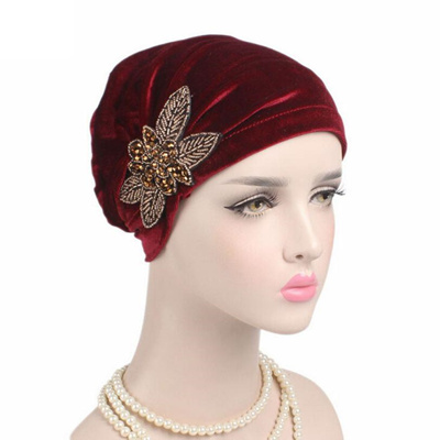 7ef128cc410 outlet Hot Sale Women Cancer Chemo Hat Beanie Flores Turban Head Wrap Bow  Cap hats for