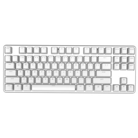 【正品】-小米悅米機械鍵盤Pro- 87鍵 | LED背光燈 | 黑白雙色 | 德國Cherry 紅軸 | 鋁合金機身 | 鍵線分離 | 義法半導體ARM | 支援macOS系統 | 880g重