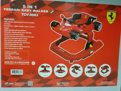 Qoo10 Ferrari 5 In 1 Walker Baby Maternity