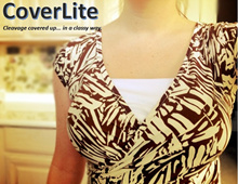 CoverLite Cleavage Cover Camisole Mock Camisole Mock Tank Top Bra Attachment