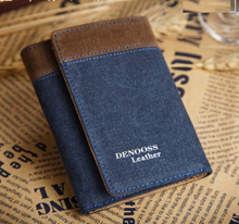 Men Wallet jean style canvas young man 123