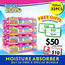 ThirstyHippo Dehumidifier Moisture Absorber 600ml 8packs Carton! Free $20 Capitaland Voucher