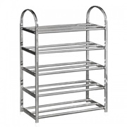 UB Furniture 5 Tier Layers Simple Practical Space Saving Stainless Steel Shoe Storage Display Rack (