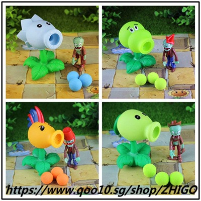 [New] 4 sets of combination 32 style Plants vs Zombies toy figurine pea  sunflower Melon toy PVZ Pea