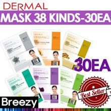 BREEZY ★ 30EA SET! [DERMAL Cosmetic] Dermal Collagen Essential Essential Mask 30EA / Face Mask / Kor