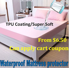 From $6.50!Anti leak bed sheet/Waterproof Mattress Protector/Fitted Bedsheet/Baby Cot Protector