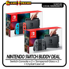 Buddy Deal Nintendo Switch Console  x 2 + Case x 2 + Tempered Glass x 2 12 Months local Warranty