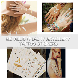 Flash/ Metallic/ Jewelry/ Temporary Tattoo Stickers TATTOO STICKERS KIDS TEMPORARY Party Favors