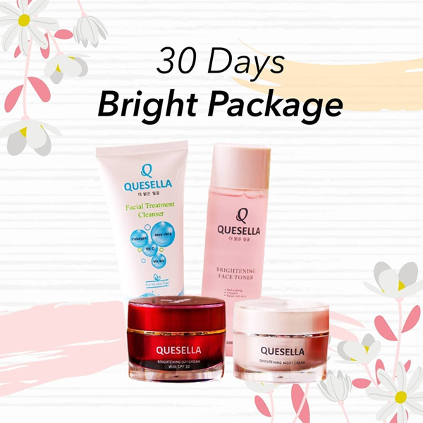 QUESELLA 30 Days Brightening Cream Set | Krim wajah pagi malam Troner Cleanser Deals for only Rp439.000 instead of Rp493.258