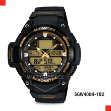 *CASIO GENUINE* Casio Outgear Sports Gear Series Twin Sensor Watch SGW400H-1B2. Free Shipping!