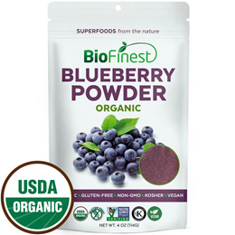 Blueberry Juice Powder - 100% Pure Freeze-Dried Antioxidant Superfood - Boost Digestion Detox (114g)