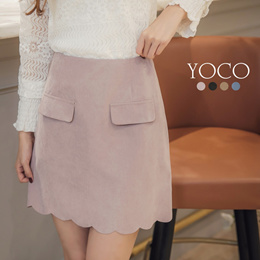YOCO - Scallop Hem Skirt-171909-Winter