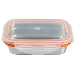 Korea StenLock Double Wall Airtight Container 149 X 109 X 44mm  (320ml) - Rectangle