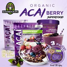 Sambazon Organic Acai Berry Superfood Sorbet/Original Blend/Pure Unsweetened/ [3 Types]*FREE GIFT