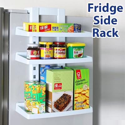 Perfect [Mega Sale]☆Fridge Side Rack☆Multi Purpose Fridge Side Storage Rack