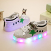 New fashion - Cute LED Lighting Star Glitter children shoes - Sneakers High Quality - Boy And Girls