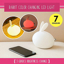 [WellWonder]Rabbit Color Changing LED Light Colorful Rabbit Nightlight Lovely Bedroom Baby Toy