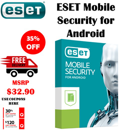 ESET Mobile Security Antivirus Latest 2019 Edition for Android License 1/2 Years