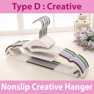 D_Nonslip Creative Hanger (White)
