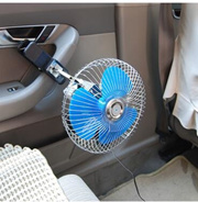 8 inch belt clip car fan portable 12V electric fan with a tilting car truck to apply