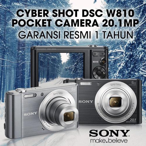 Sony Cyber-Shot Dsc-W810 Pocket Camera 20.1Mp [Garansi Resmi 1 Tahun] - Free Shipping