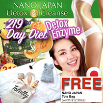 [NOW $24.83ea*!!! FREE* TOTE BAG!!] ♥NANO DETOX DAY ENZYME ♥FAST WEIGHT-LOSS ♥219-KIND ENZYME SLIM
