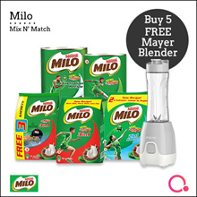 [NESTLÉ] BUY 5 x MILO POWDER AND GET FREE MAYER BLENDER!! **SPECIAL PROMO**