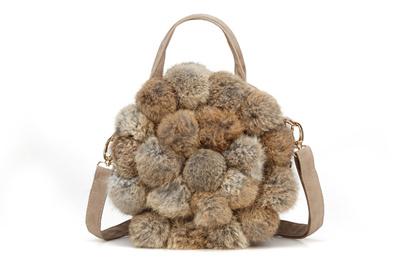 3fea40015b64 Autumn winter 2016 new rabbit fur bags round fashion women baodan shoulder  Crossbody bag