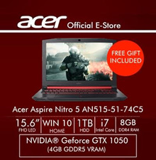 Acer Aspire Nitro 5 (AN515-51-74C5) 15.6 Inch FHD IPS Gaming