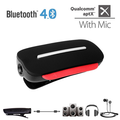 Avantree aptX 2-in-1 Bluetooth 4 0 Headphone Receiver and In-ear Style with  Built-in Mic Support 3 5