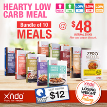 [Bundle of 10 meals ] Xndo Healthy LOW Carbs meal set