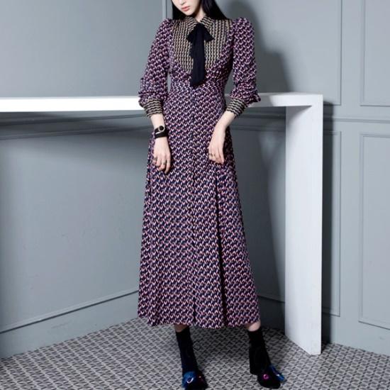 ジェイ・スタイルビックサイズレオビワンピースマフラーセット 大きいサイズ/ワンピース/韓国ファッション