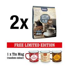 OWL KOPITIAM Kopi-O – Coffee with Sugar (2 Packs) + Tin Mug