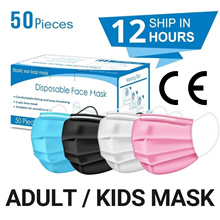 Local Ready Stock 3 PLY Disposable Face Masks 50pcs Adult Mask Children Mask Fastest Shipping