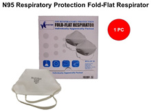*N95 FACE MASK*[BREATH RIGHT] N95 RESPIRATORY PROTECTION FOLD-FLAT RESPIRATOR