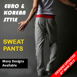 MENS KOREAN EURO STYLE SWEAT PANTS CASUAL JOGGER DANCE